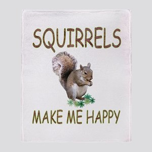 Squirrels Throw Blanket
