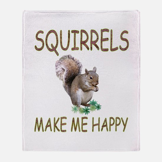 Squirrels Throw Blanket