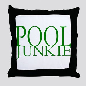 Pool Junkie Throw Pillow