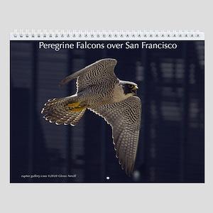 Raptor Calendar #5 Peregrines over San Francisco
