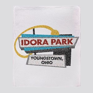 Idora Park Sign Throw Blanket