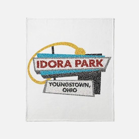 Idora Park Sign Throw Blanket
