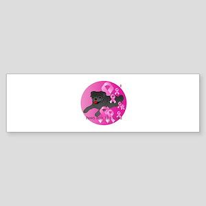 Black Pug Sticker (Bumper)