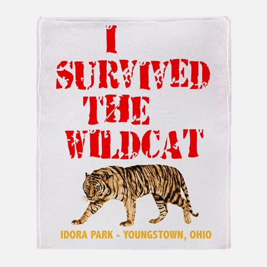I survived the Wildcat! Throw Blanket