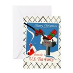 Tea Party Christmas Greeting Card