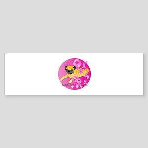 Fawn Pug Sticker (Bumper)