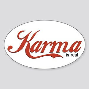 Karma Script Sticker (Oval)
