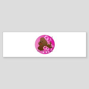 Brown Poodle Sticker (Bumper)