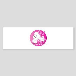 White Poodle Sticker (Bumper)