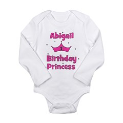 1st Birthday Princess Abigail Long Sleeve Infant B