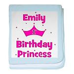 1st Birthday Princess Emily! baby blanket