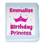 1st Birthday Princess Emmalis baby blanket