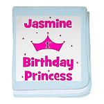 1st Birthday Princess Jasmine baby blanket