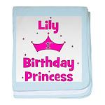 1st Birthday Princess Lily! baby blanket