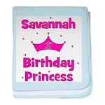 1st Birthday Princess Savanna baby blanket