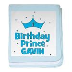 Gavin - 1st Birthday Prince baby blanket