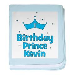 1st Birthday Prince Kevin! baby blanket
