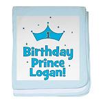 1st Birthday Prince Logan! baby blanket