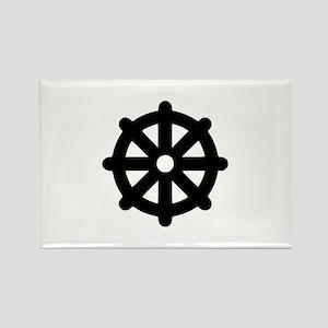 Dharma wheel Rectangle Magnet