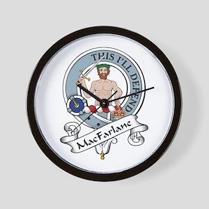 MacFarlane Clan Badge Wall Clock