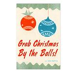 Grab Christmas By the Balls Postcards (8 pk)
