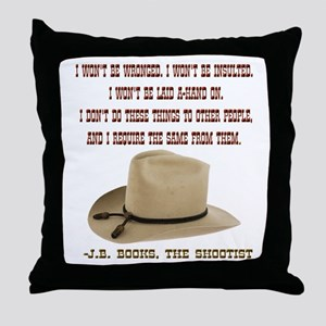 The Shootists Creed Throw Pillow