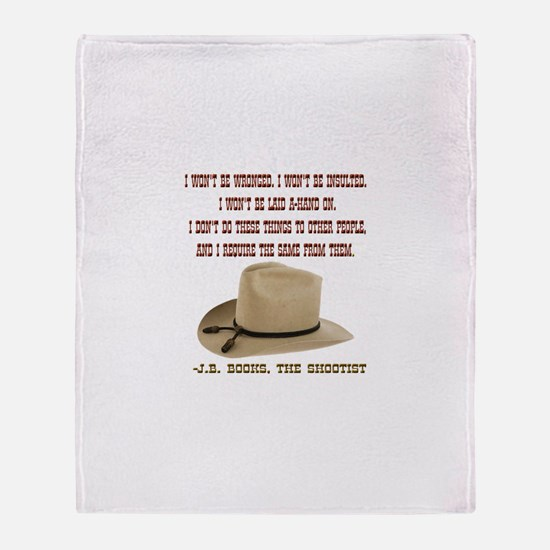 The Shootists Creed Throw Blanket