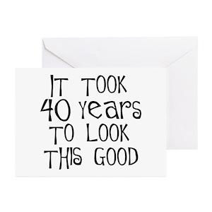 40th Birthday Ideas Greeting Cards