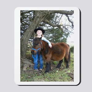 4-H Black Hat Cowgirl Mousepad