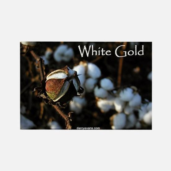 White Gold Rectangle Magnet