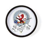 MacDuff Clan Badge Wall Clock