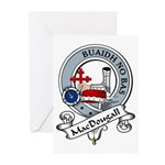MacDougall Clan Badge Greeting Cards (Pk of 10