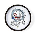 MacDougall Clan Badge Wall Clock
