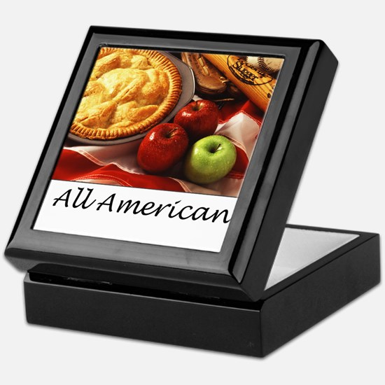 Unique American as apple pie Keepsake Box