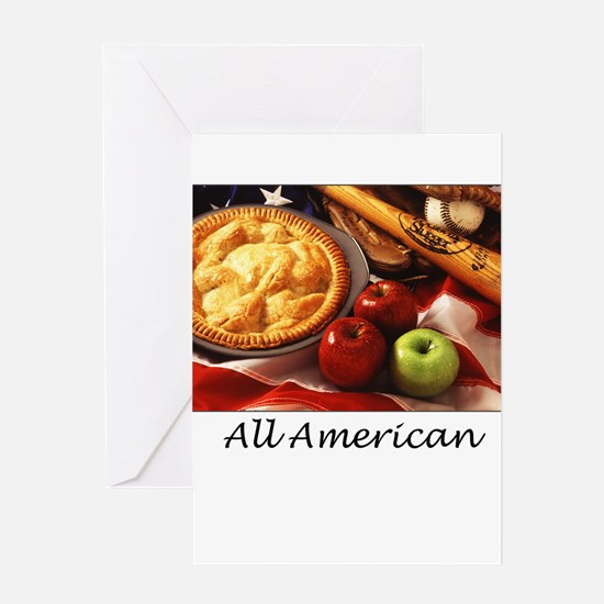Cute American as apple pie Greeting Card