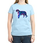 Corey Tiger 80s Retro Vintage Blue Tiger T-Shirt W