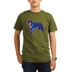 Corey Tiger 80s Retro Vintage Blue Tiger T-Shirt O
