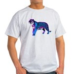 Corey Tiger 80s Retro Vintage Blue Tiger T-Shirt L
