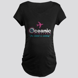 Oceanic Airlines Maternity Dark T-Shirt