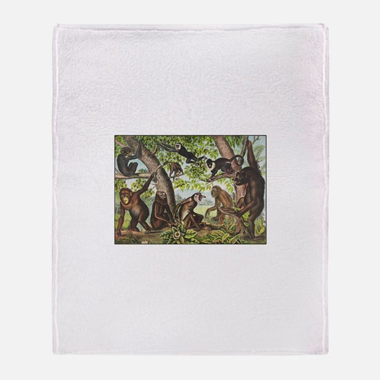 Cute Chimp Throw Blanket