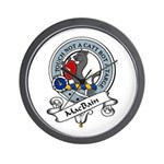 MacBain Clan Badge Wall Clock