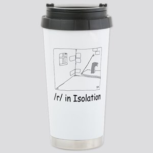 R in isolation Stainless Steel Travel Mug