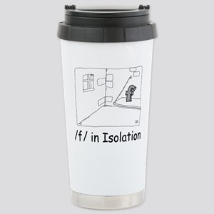 F in isolation Stainless Steel Travel Mug