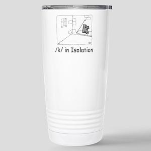K in isolation Stainless Steel Travel Mug
