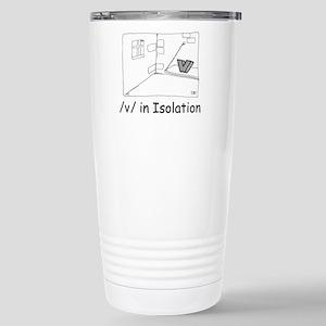 V in isolation Stainless Steel Travel Mug