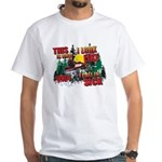 Snowmobiling is Life Live IT White T-Shirt