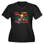 This is what Women's Plus Size V-Neck Dark T-Shirt