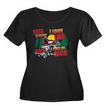 This is Women's Plus Size Scoop Neck Dark T-Shirt