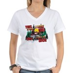 This is what I look like wh Women's V-Neck T-Shirt