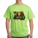Snowmobiling is Life Live IT Green T-Shirt
